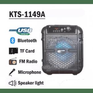 Колонка с микрофон KTS-1149A, 8 говорител, Bluetooth, USB, TF