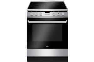 Електрическа готварска печка AMICA 6018CE3.434EHTAKDQXX, Инокс, Керамични котлони