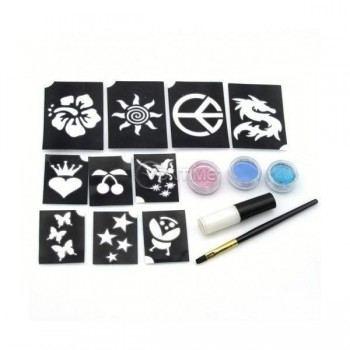 Комплект за татуировки - Shimmer glitter tattoos