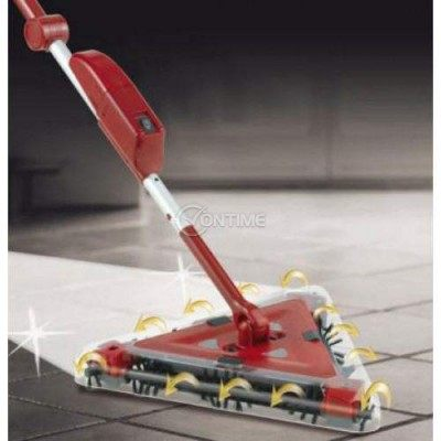 Електричска подочистачка 2 в 1 – червена триъгълна Twister Sweeper + подарък МОП