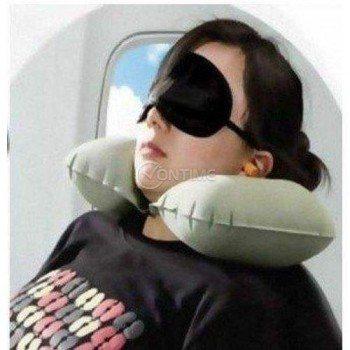 Комплект за пътуване 3 в 1 – възглавничка, маска за очи, тапи за уши